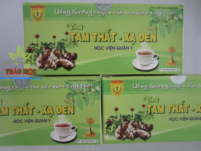 trà tam thất xạ đen hỗ trợ điều trị ung thư
